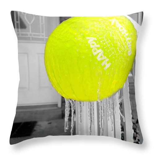 Ice Throw Pillow featuring the photograph Cold Birthday by Valentino Visentini