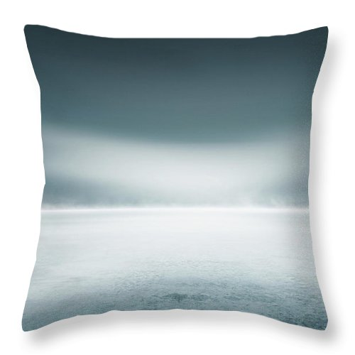 Tranquility Throw Pillow featuring the digital art Cold Studio Background by Aaron Foster