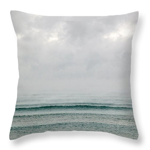 Cold Wave Iii Throw Pillow featuring the photograph Cold Wave IIi by Michelle Constantine