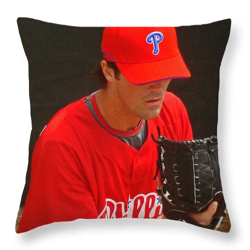 Baseball Throw Pillow featuring the photograph Cole by David Rucker