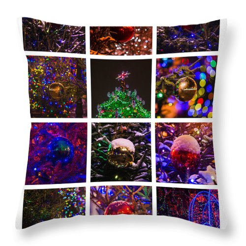 Abstract Throw Pillow featuring the photograph Collage December - Featured 2 by Alexander Senin