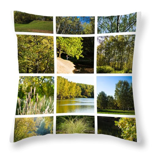 Landscape Throw Pillow featuring the photograph Collage September - Featured 3 by Alexander Senin