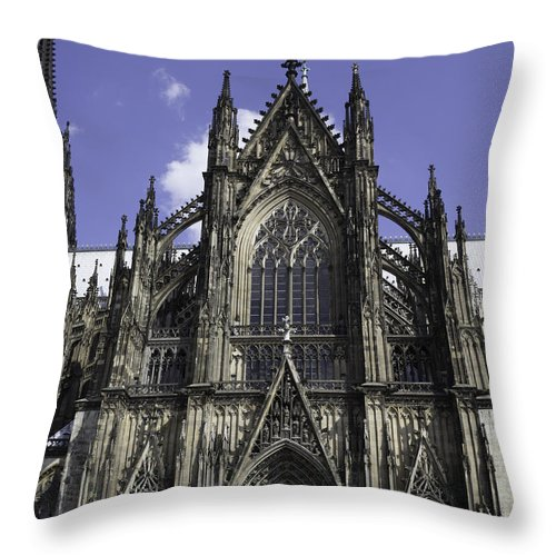 2014 Throw Pillow featuring the photograph Cologne Cathedral 02 by Teresa Mucha