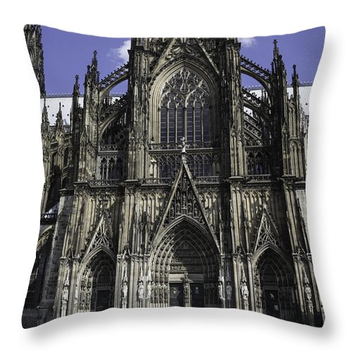 2014 Throw Pillow featuring the photograph Cologne Cathedral 05 by Teresa Mucha