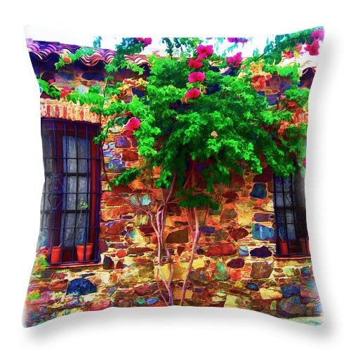 Ancient Throw Pillow featuring the photograph Colonia Del Sacramento Window by Joan Minchak