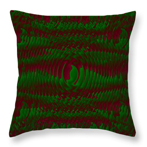 Landscape Throw Pillow featuring the painting Color Fantasia Catus 1 No 1 V by Gert J Rheeders