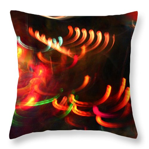 Curves Throw Pillow featuring the photograph Color Light Motion by Ric Bascobert