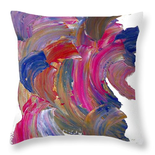 Painting Throw Pillow featuring the painting Color Mix 15 by Lawrence Nusbaum