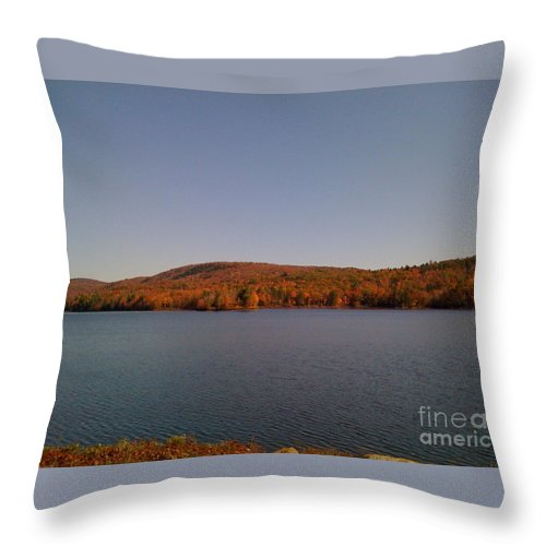 Lake Throw Pillow featuring the photograph Color On The Lake by Nancie Johnson