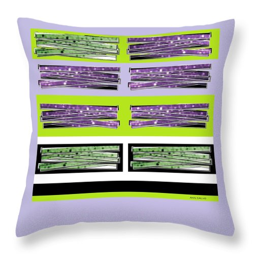 Graphic Art Throw Pillow featuring the mixed media Color Stix by Ann Calvo