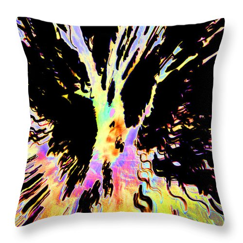 Black Throw Pillow featuring the photograph Color Trip by Ric Bascobert