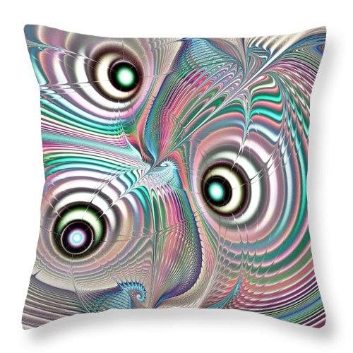 Malakhova Throw Pillow featuring the digital art Color Waves by Anastasiya Malakhova