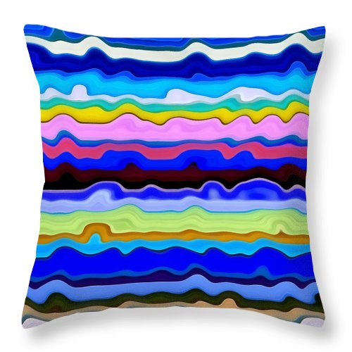 Textural Throw Pillow featuring the painting Color Waves No. 4 by Michelle Calkins