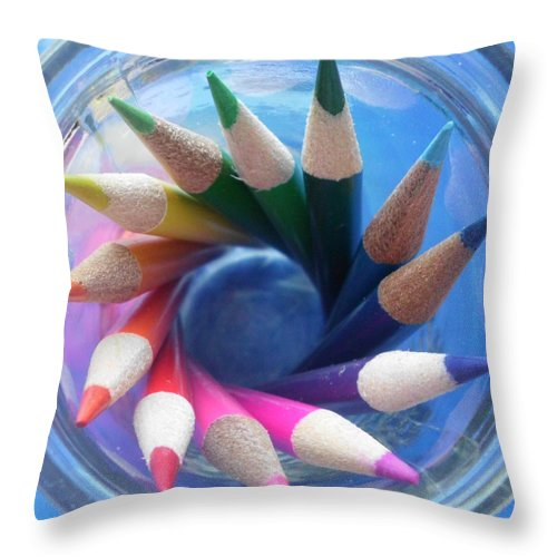Color Throw Pillow featuring the photograph Color Wheel by Elizabeth Sullivan