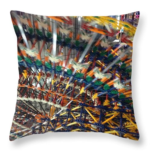 Throw Pillow featuring the photograph Color Wheel by Noel Carey