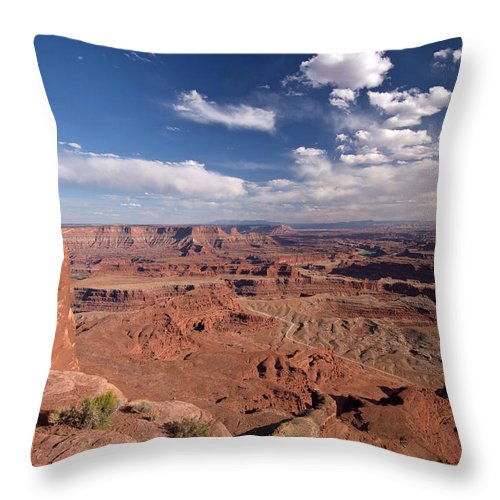 Scenics Throw Pillow featuring the photograph Colorado River Canyon From Dead Horse by John Elk