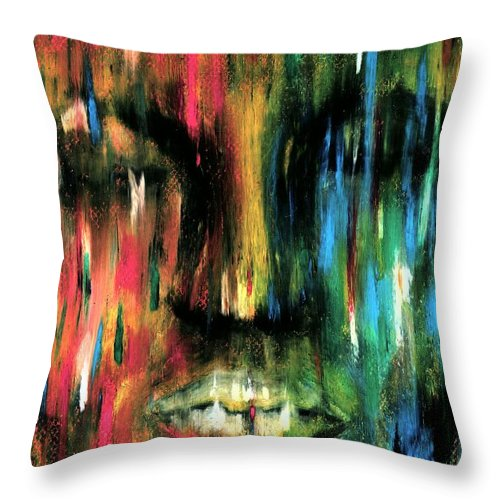 Colorful Throw Pillow featuring the photograph ColorBlind by Artist RiA