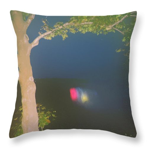 Waterfall Throw Pillow featuring the photograph Colored Falls by Pharris Art