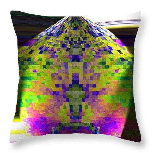Pentagon Throw Pillow featuring the photograph Colored Pentagon by Jeff Swan