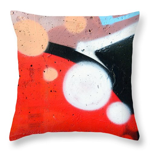 Abstract Throw Pillow featuring the photograph Colored Texture Detail by Alain De Maximy