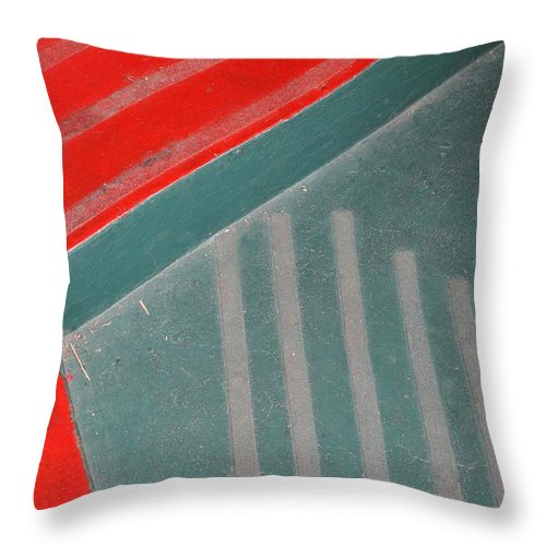 Steps Throw Pillow featuring the photograph Colorful Concrete Steps by Gregory Strong