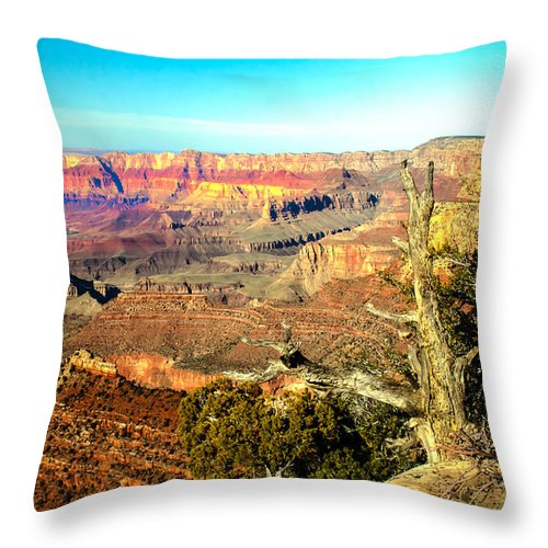 Grand Canyon Throw Pillow featuring the photograph Colorful Grand Canyon by Robert Bales