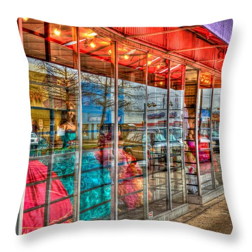 Quincea� Throw Pillow featuring the photograph Colorful by Mark Alder