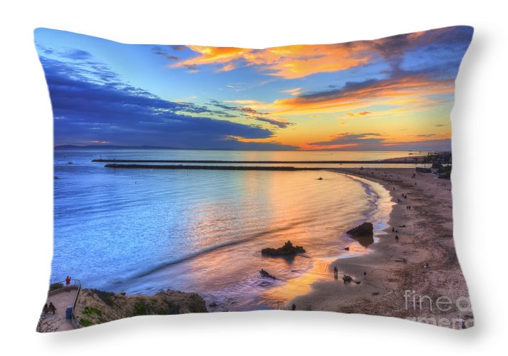 Colors Throw Pillow featuring the photograph Colorful Sky At Inspiration Point by Eddie Yerkish