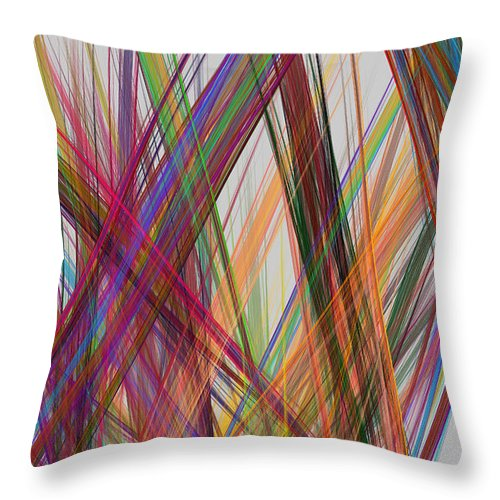 Straight Throw Pillow featuring the photograph Colorful Straight Line Fractal Flame by Keith Webber Jr