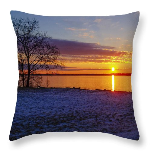 Landscape Throw Pillow featuring the photograph Colorful Sunrise by AE Jones