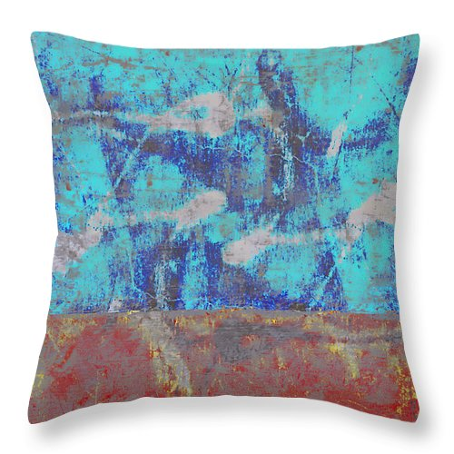Abstract Throw Pillow featuring the photograph Colorful Walls Number 1 by Carol Leigh