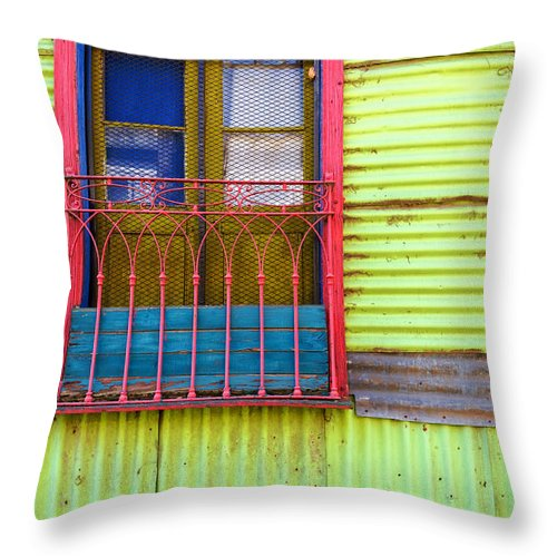 Argentina Throw Pillow featuring the photograph Colorful Window by Jess Kraft
