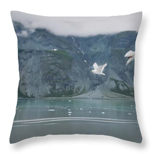 Alaska Throw Pillow featuring the photograph Colors Of Alaska - Glacier Bay by Natalie Rotman Cote