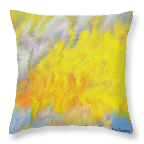Colors Throw Pillow featuring the digital art Colors Of Autumn by Dr Loifer Vladimir