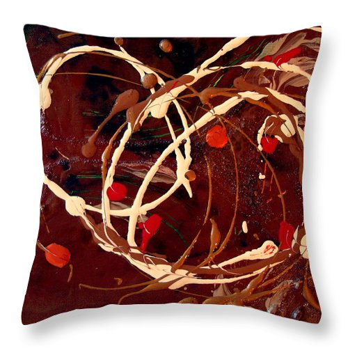 Autumn Throw Pillow featuring the painting Colors of Autumn by Holly Picano