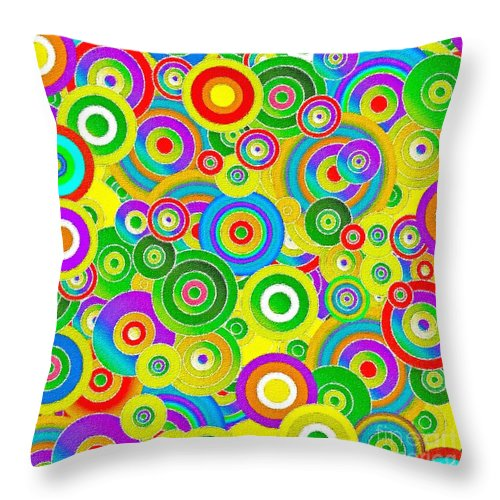 Abstract Fireworks Throw Pillow featuring the painting Colors by Stefano Senise