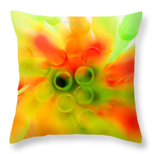 Abstract Throw Pillow featuring the photograph Colours by Viktor Pravdica