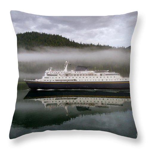 Alaska Marine Highway Throw Pillow featuring the photograph Columbia by Lori Dobbs