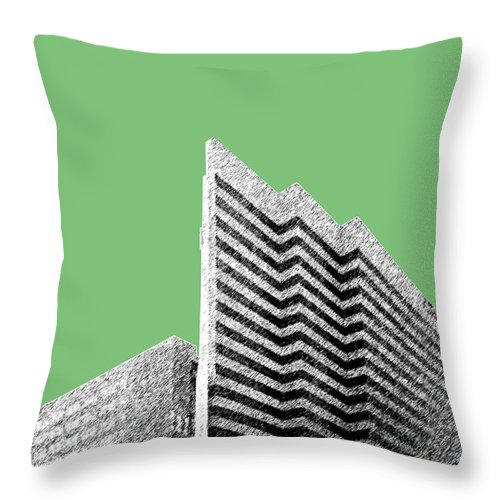 Architecture Throw Pillow featuring the digital art Columbia South Carolina Skyline 2 - Apple by DB Artist