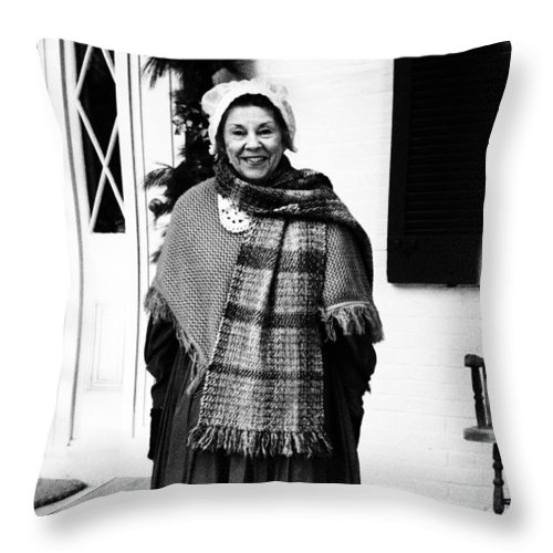 Vintage Photograph Throw Pillow featuring the photograph Come On In by Dan Sproul