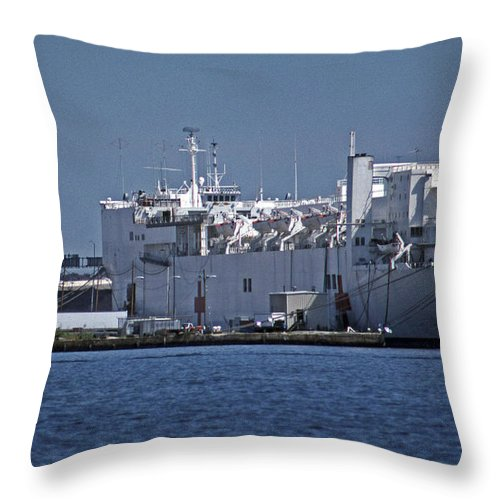 Maritime Throw Pillow featuring the photograph Comfort by Skip Willits