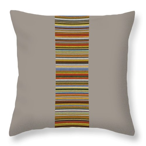 Textured Throw Pillow featuring the painting Comfortable Stripes Vll by Michelle Calkins