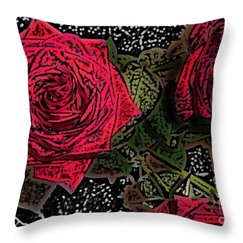 Rose Throw Pillow featuring the photograph Comic Book Roses by Minding My Visions by Adri and Ray