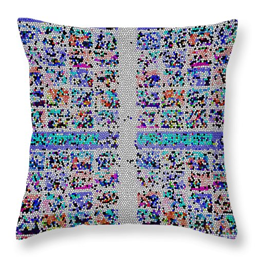 Abstract Art Throw Pillow featuring the photograph Comical Stamps by Tina M Wenger