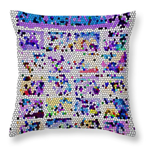 Abstract Art Throw Pillow featuring the photograph Comics Strip Abstract by Tina M Wenger