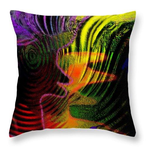 Families Throw Pillow featuring the digital art Communicate by Mathilde Vhargon