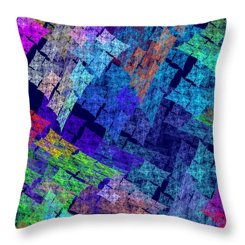 Translucent Throw Pillow featuring the photograph Computer Generated Abstract Julia Fractal Flame by Keith Webber Jr