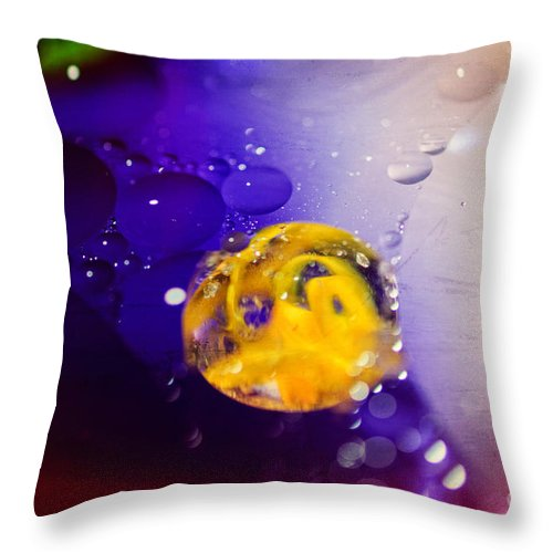 Art Throw Pillow featuring the photograph Conceive by Charles Dobbs