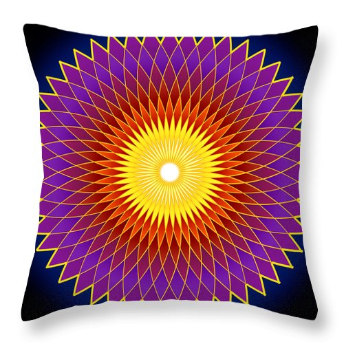 Art Work Throw Pillow featuring the digital art Concentration Design by Vijay Sonar