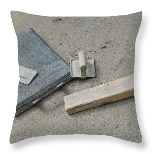 Cement Throw Pillow featuring the photograph Concrete by Joseph Yarbrough